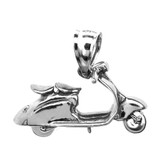 Sterling Silver Scooter Pendant Necklace