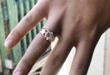 Men's Rose Gold 4 Carat Cubic Zirconia Bold Solitaire Ring