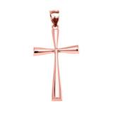 Rose Gold Beautiful Cross Pendant Necklace