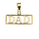 "Yellow Gold ""DAD"" Diamond Pendant Necklace"