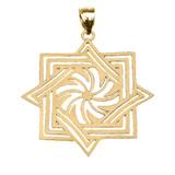Yellow Gold Armenian Eternity Pendant Necklace