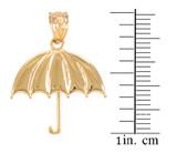 Gold Open Umbrella Pendant Necklace