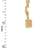 Gold Studio Mic Microphone Charm Necklace
