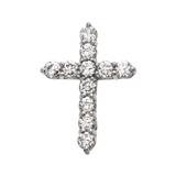 Elegant Sterling Silver 4 Carat Round Cubic Zirconia Cross Pendant Necklace (Medium)