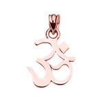 OHM (OM) Ganesh Pendant Necklace in Rose Gold
