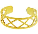 Yellow Gold X Toe ring