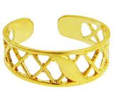 Yellow Gold Cross Hatch Toe Ring