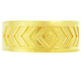 Yellow Gold Chevron Toe Ring