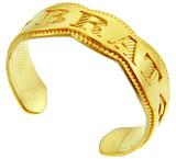 Yellow Gold  BRAT Toe Ring