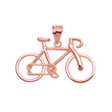 Rose Gold Bicycle Pendant Necklace