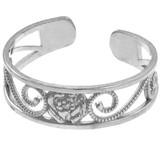 White Gold Rose Toe Ring