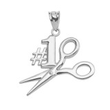 Sterling Silver #1 Hairstylist Pendant Necklace