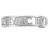 Sterling  Silver PEACE Toe ring