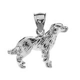 Sterling Silver Labrador Pendant Necklace