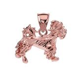 Rose Gold Terrier Pendant Necklace
