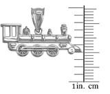 White Gold Steam Train Pendant Necklace