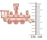Rose Gold Steam Train Pendant Necklace