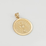 Yellow Gold Holy Communion Pendant Necklace