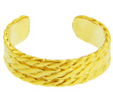 Yellow Gold Bold Milgrain Toe Ring