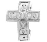 "Silver ""I Love You"" Cross Toe Ring"