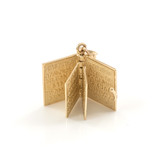 Yellow Gold 3D Armenian Bible Pendant Necklace