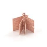 Rose Gold 3D Armenian Bible Pendant Necklace
