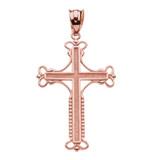 Rose Gold Amulet Christian Cross Pendant Necklace