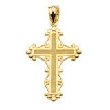 Yellow Gold Christian Cross Spirituality Pendant Necklace