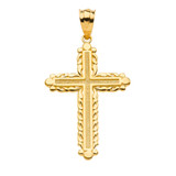 Yellow Gold Passion Cross Pendant Necklace