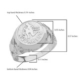 Sterling Silver Aquarius Zodiac Sign Nugget Ring