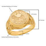 Yellow Gold Cancer Zodiac Sign Nugget Ring