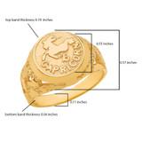 Yellow Gold Capricorn Zodiac Sign Nugget Ring