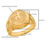 Yellow Gold Sagittarius Zodiac Sign Nugget Ring