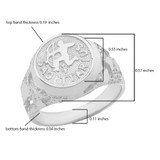 Sterling Silver Sagittarius Zodiac Sign Nugget Ring