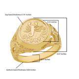 Yellow Gold Scorpio Zodiac Sign Nugget Ring