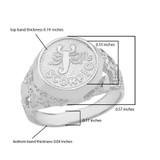 Sterling Silver Scorpio Zodiac Sign Nugget Ring