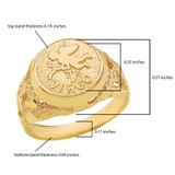Yellow Gold  Virgo Zodiac Sign Nugget Ring