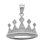 Sterling Silver Royal Crown Necklace Pendant