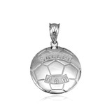 Sterling Silver Soccer Mom Soccer Ball Sports Pendant Necklace