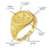 Yellow Gold Om Symbol Harmony Men's Ring