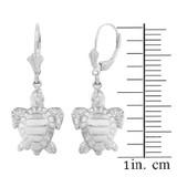 Sterling Silver Sea Turtle Earring Set (small)
