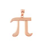 Rose Gold Pi Symbol Math Pendant Necklace