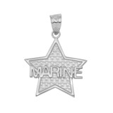 Sterling Silver Marine Star Pendant Necklace