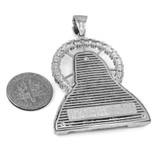 Sterling Silver Sacred Heart Of Jesus Pendant