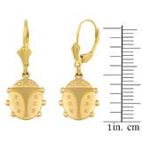 Yellow Gold Lucky Ladybug  Earring Set