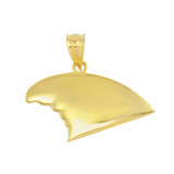 Yellow Gold Shark Fin Pendant Necklace