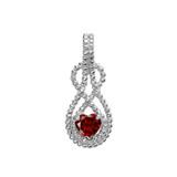 Sterling Silver Heart Shaped (LCG) Double Infinity Hidden Bail Pendant