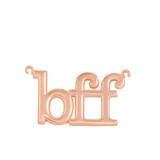 14k Solid Rose Gold BFF Best Friends Forever Sideways Pendant Necklace