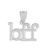"""Sterling Silver BFF Best Friends Forever Pendant Necklace (0.79"""" )"""