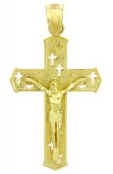 Yellow Gold Crucifix Pendant Necklace- The Crosses Crucifix